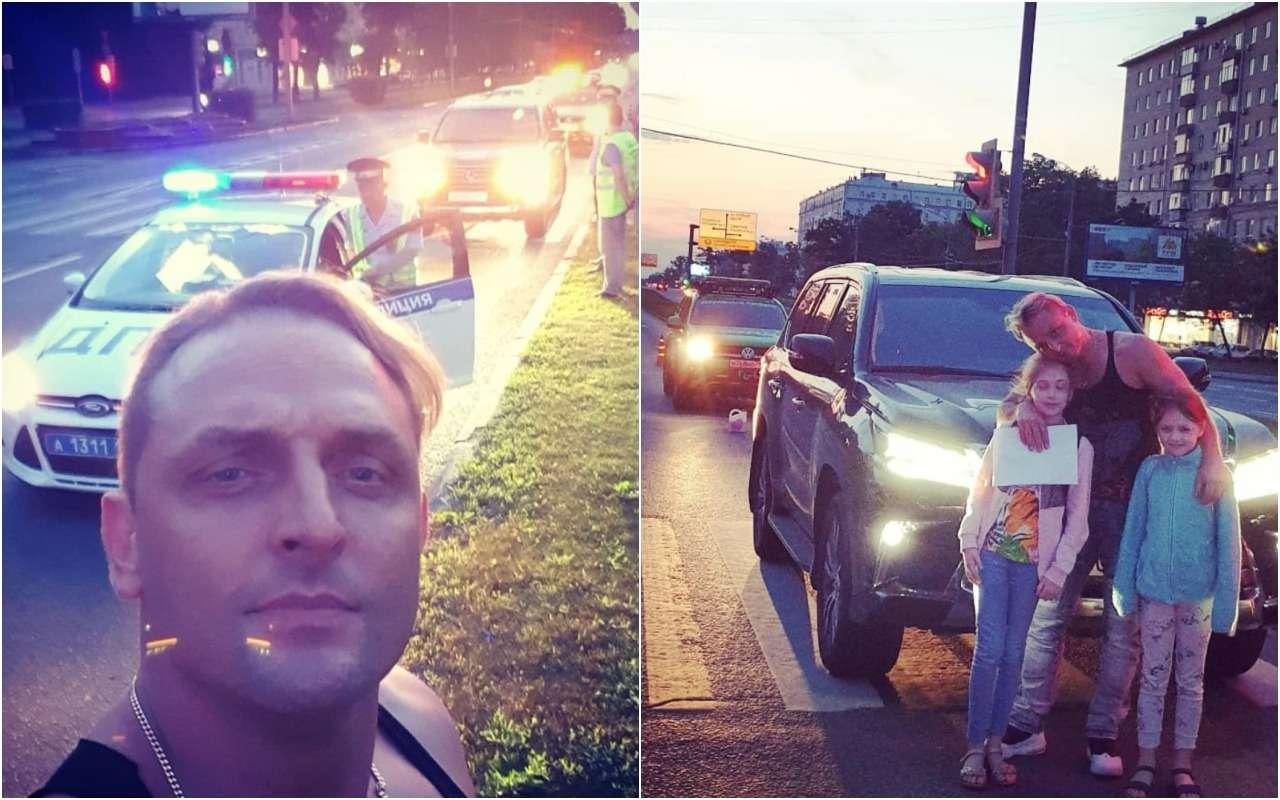 Машину Аскольда Запашного сдвумя детьми протаранила легковушка