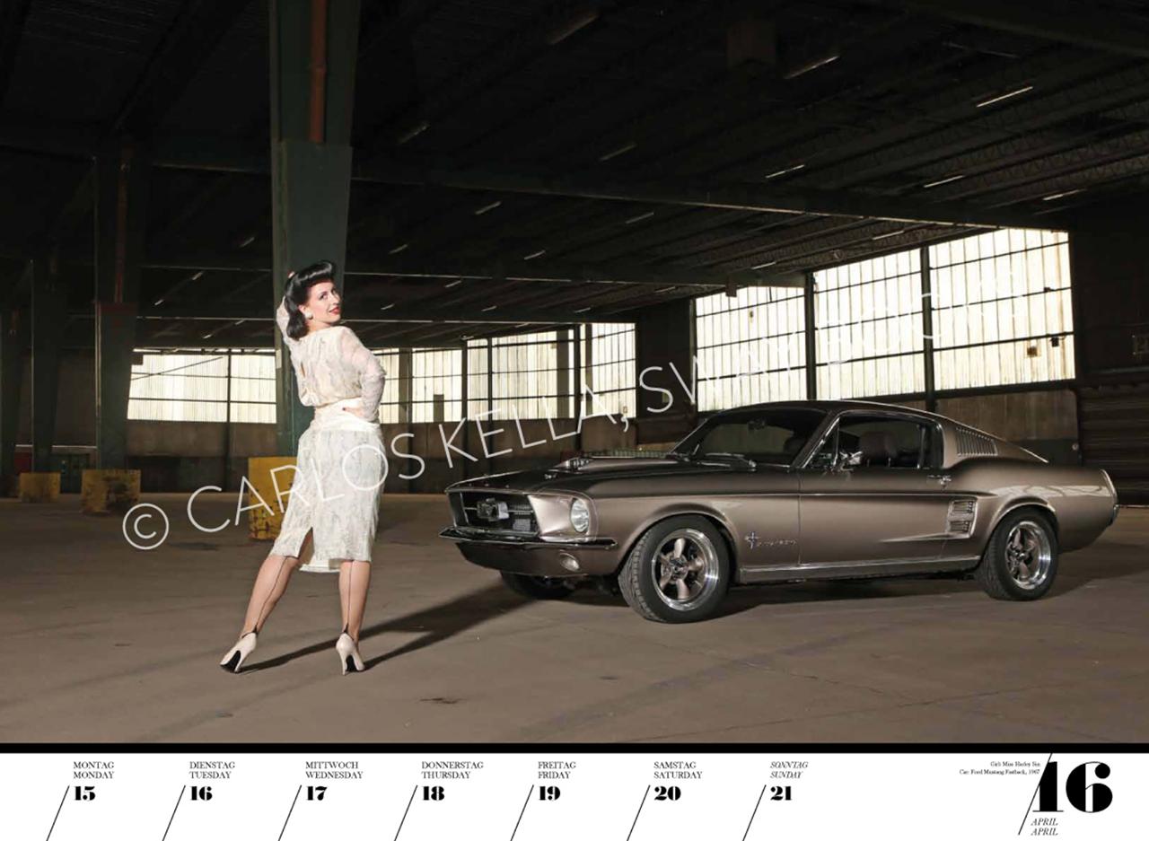Очаровательные красотки иамериканские автомобили. Календарь 2019— фото 904614