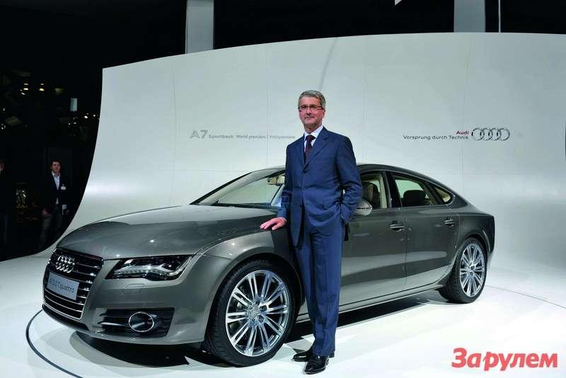 В понедельник вМюнхене, вмузее современного искусства, компания Audi показала новую модель— спортбек А7