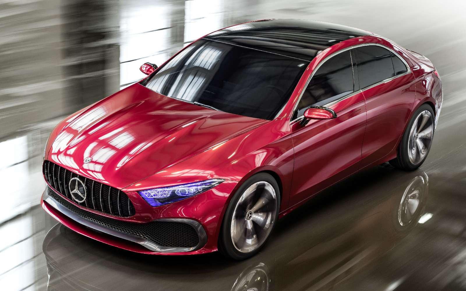 Прямолинейная чувственность: Mercedes-Benz Concept ASedan дебютировал вШанхае— фото 738827
