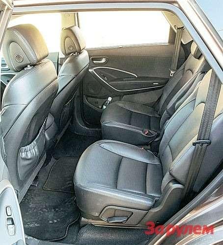 Hyundai Grand Santa FeНазаказ предлагают версию сраздельными креслами второго ряда.