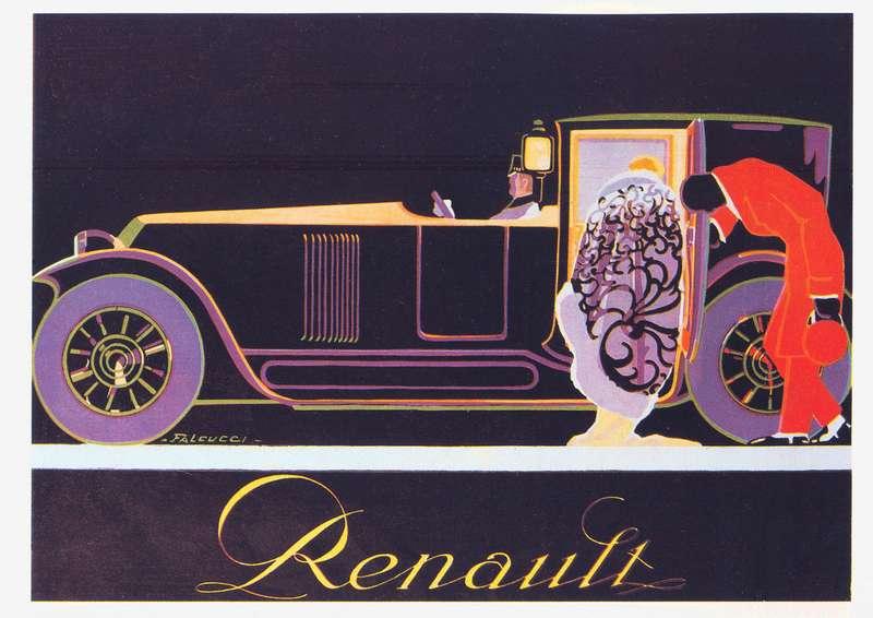Обложка проспекта Renault 40CV, в1923 году получившей интегральный капот.