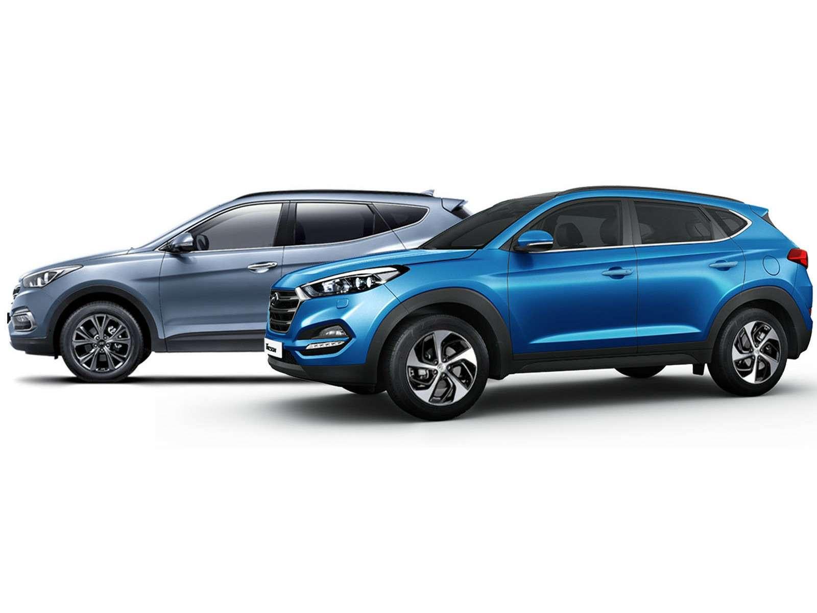 Hyundai Tucson или Santa Fe: на что потратить два миллиона рублей? — фото 601210