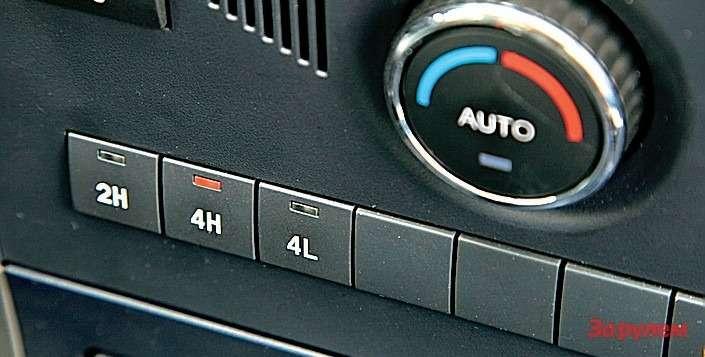 Менять режимы полноприводной трансмиссии при помощи кнопок удобно ипросто.