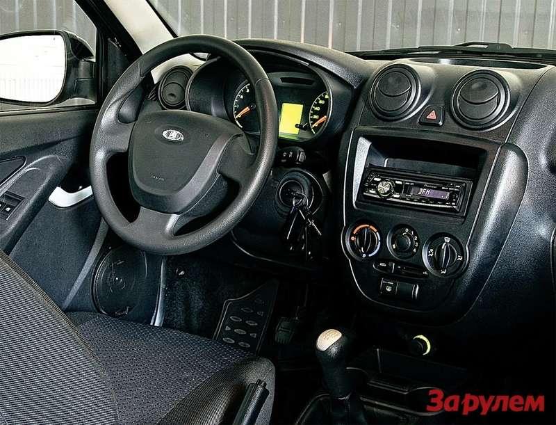 Подушка безопасности, современная панель приборов, электроруль— иэто неперечень достоинств иномарки, акомплектация российского авто!