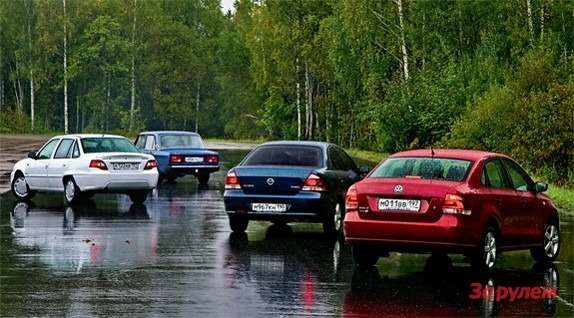 Daewoo Nexia, Lada 2105, Nissan Almera Classic, Volkswagen Polo Sedan