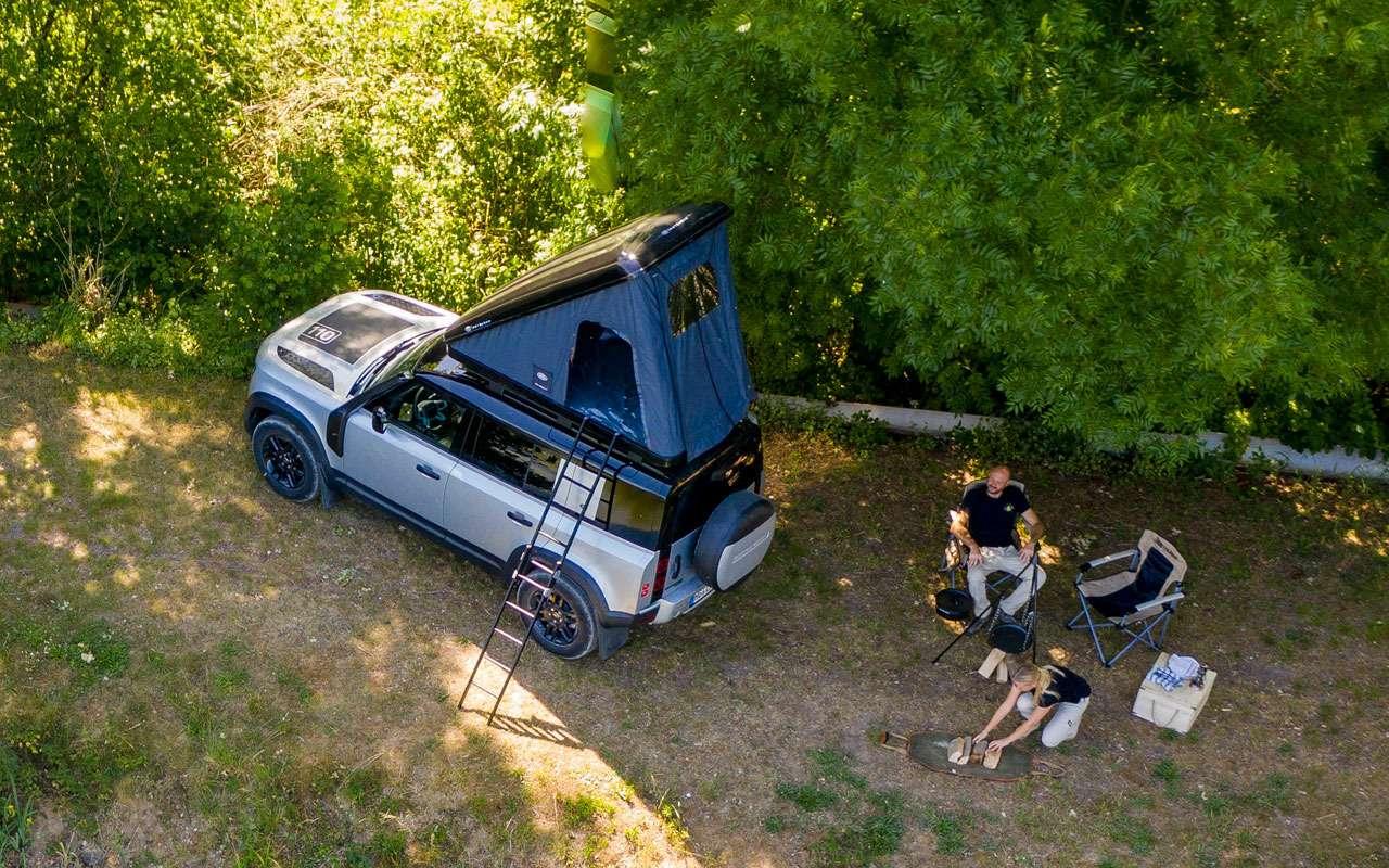 Land Rover сделал изнового Дефендера кемпер— фото 1141474