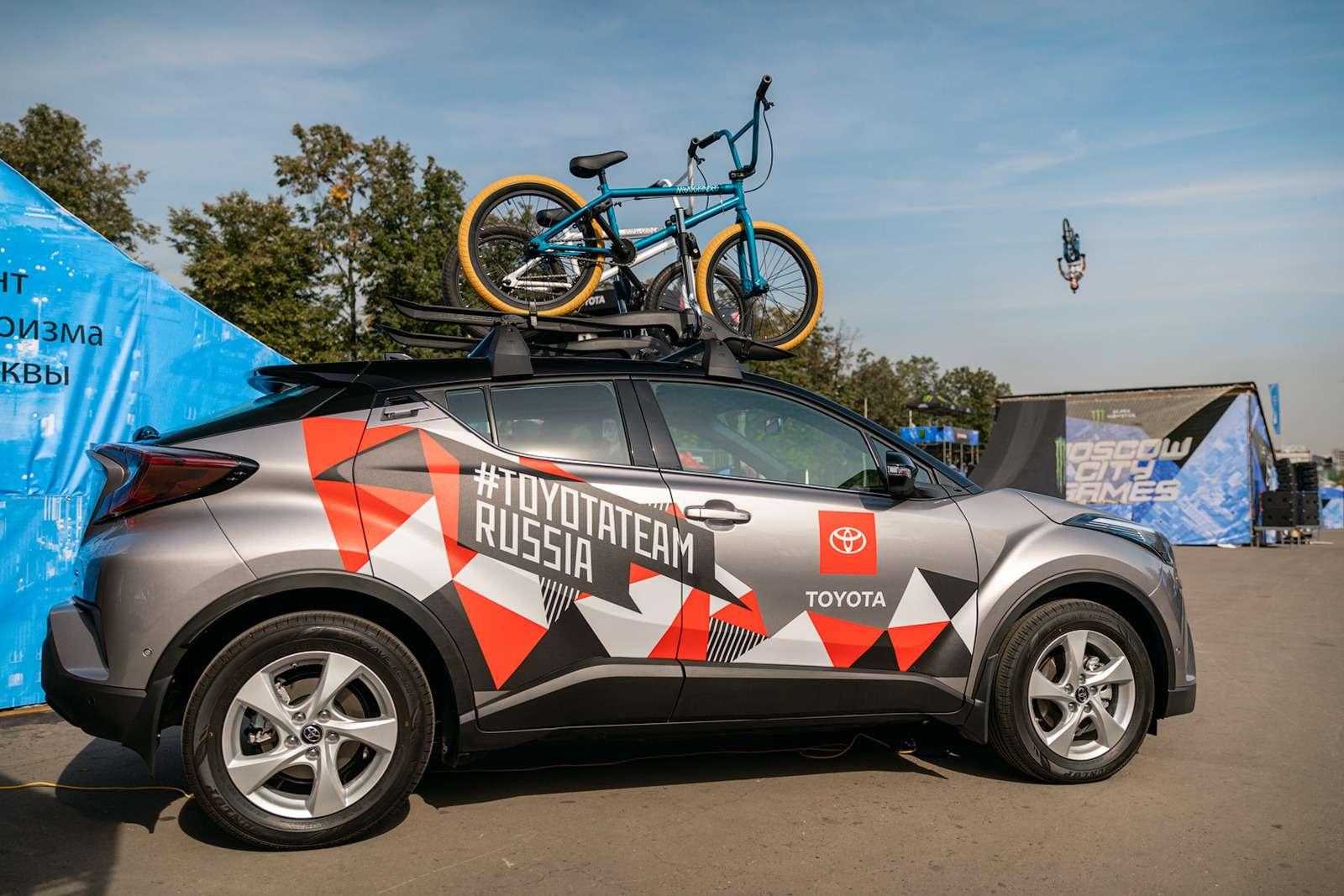 Toyota поддержала фестиваль Moscow City Games
