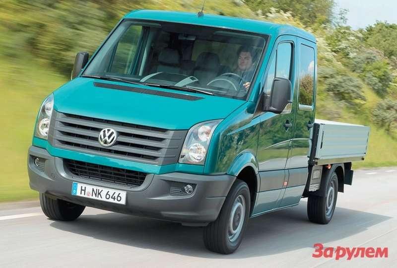 Новый Crafter 35: бортовой Pritschenwagen с6-местной кабиной и2-литровым мотором