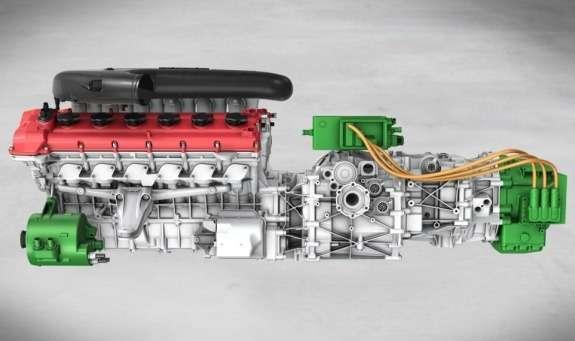 Ferrari hybrid powerplant