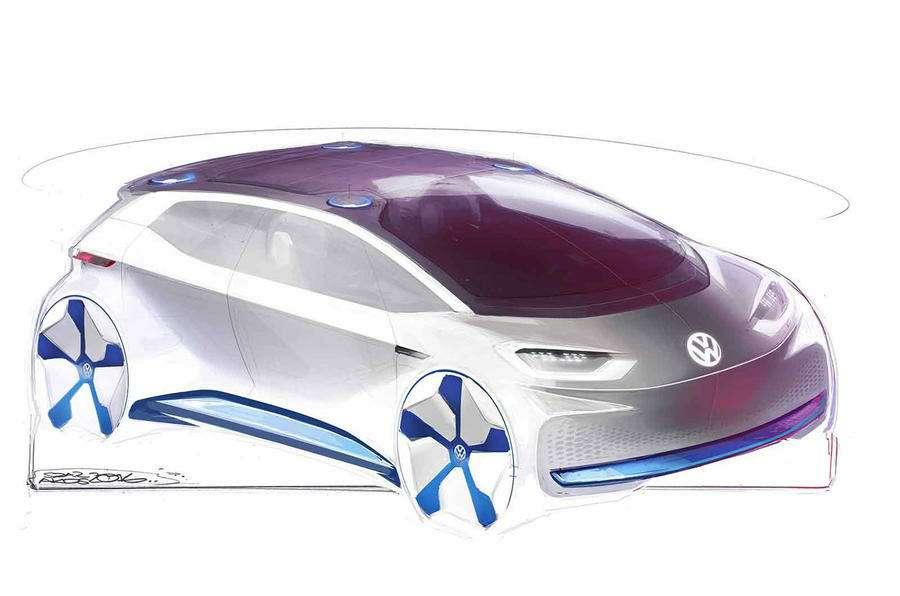 VWпоказал скетчи нового электрокара— фото 638657