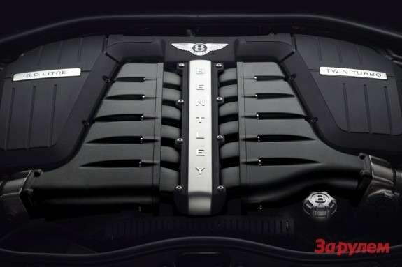 Bentley 6.0-liter W12 twinturbo engine