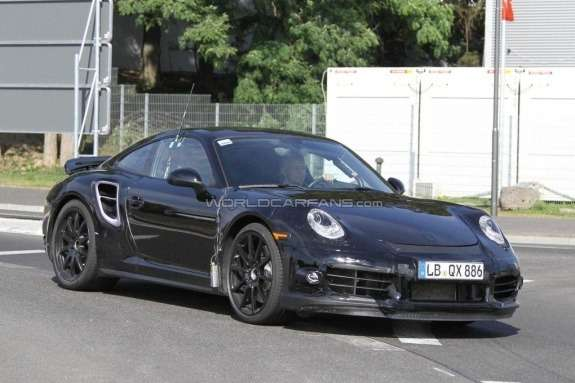 Porsche 911 Turbo test prototype side-front view
