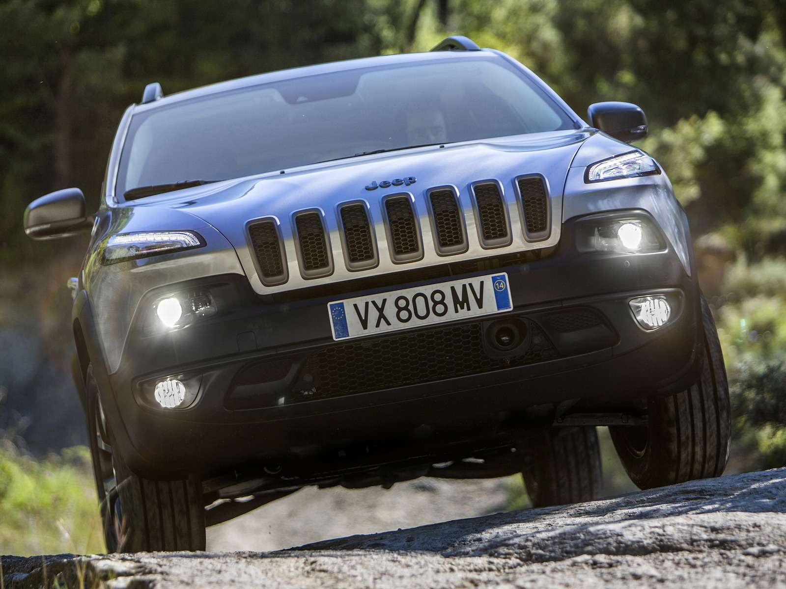 Theall-new 2014 Jeep Cherokee Trailhawk model with the standard