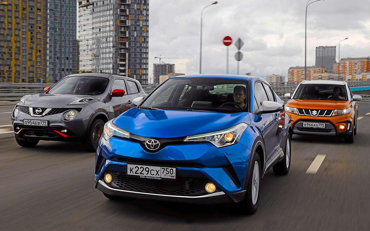 Toyota C-HR против других японских кроссоверов— большой тест-драйв— фото 902412