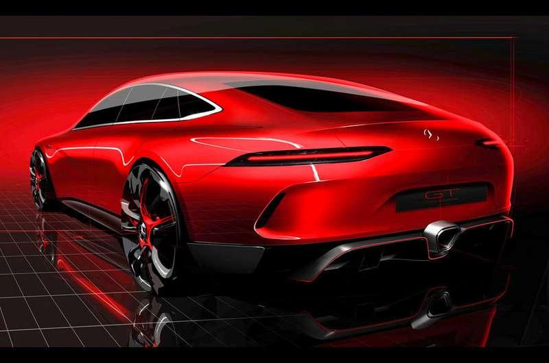 Mercedes раскрыл внешность конкурента Порше  Panamera