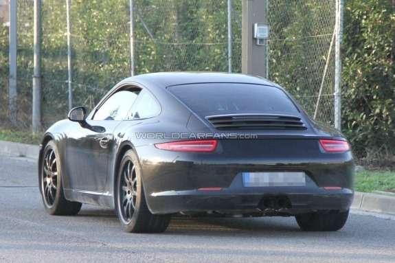Porsche 911GT3 test prototype side-rear view