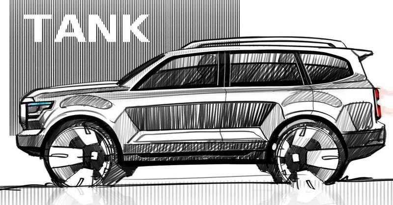Tank 600от Great Wall— новый конкурент LCPrado