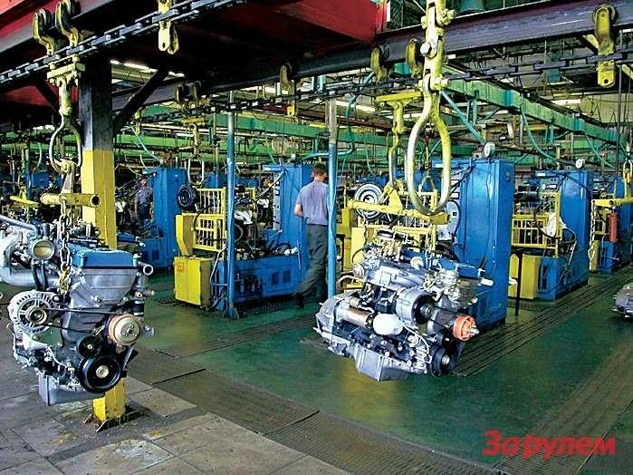 Мощности Заволжского моторного завода загружены пока лишь натреть.