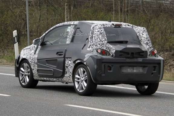 Opel Adam test prototype side-rear view