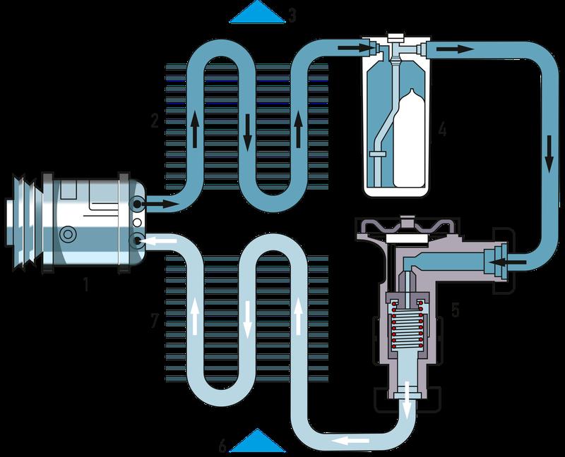 Схема системы кондиционирования воздуха