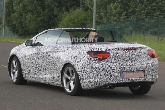 Opel Astra Cabrio test prototype side-rear view