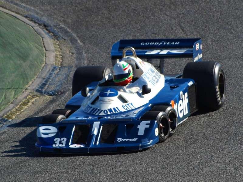 Болид Tyrrell P34 выступал всезонах 1976и 1977 годов. Фото: www.autowp.ru