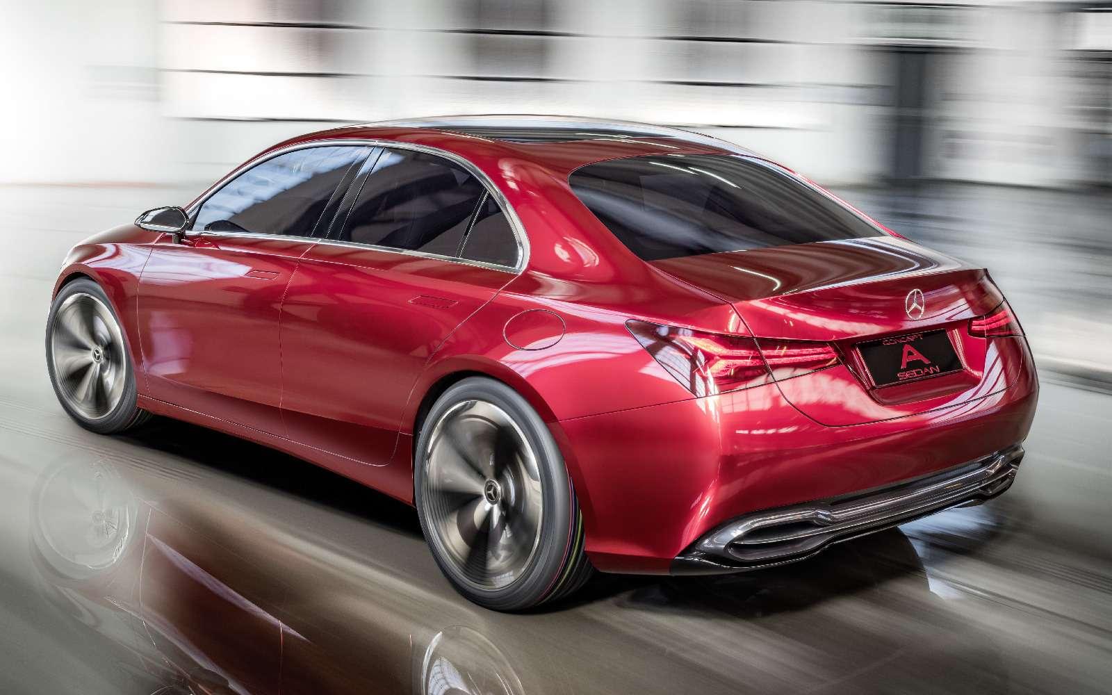 Прямолинейная чувственность: Mercedes-Benz Concept ASedan дебютировал вШанхае— фото 738829