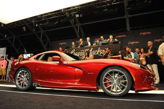 Fisrt SRT Viper auctioned off side-front view