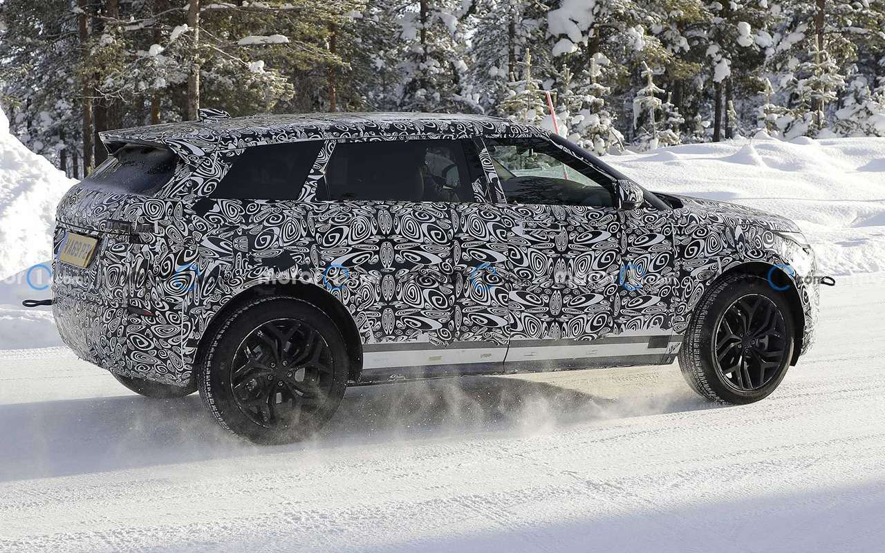 7-местный Range Rover Evoque тестируют уПолярного круга— фото 1222953