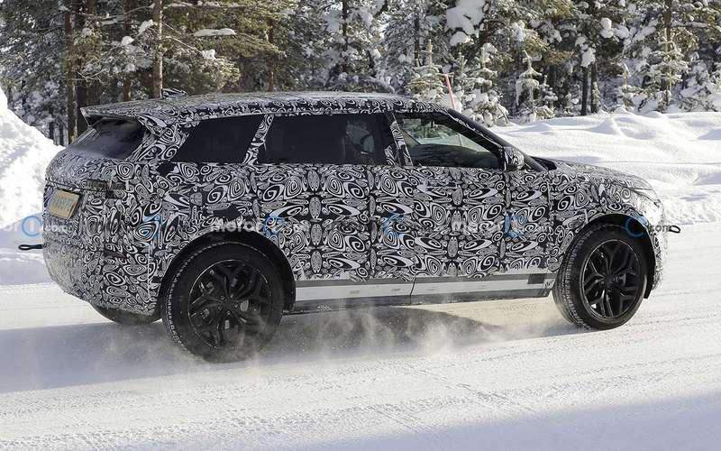 7-местный Range Rover Evoque тестируют уПолярного круга