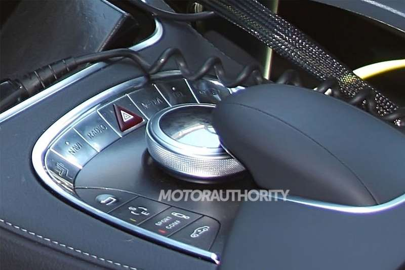 New Mercedes-Benz S-class test prototype interior 2