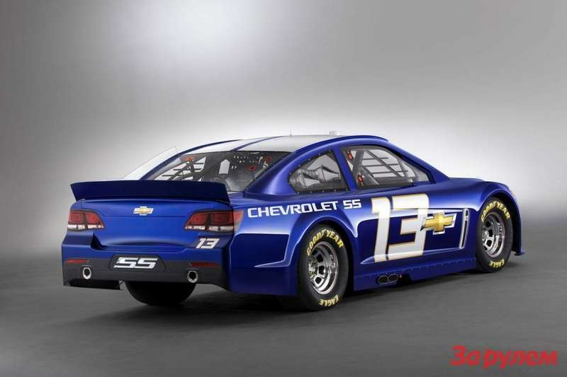 Chevrolet SSNASCAR Sprint Cup car side-rear view