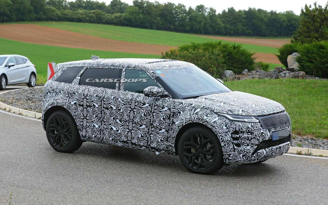Удлиненный Range Rover Evoque натестах: первые фото— фото 1125355