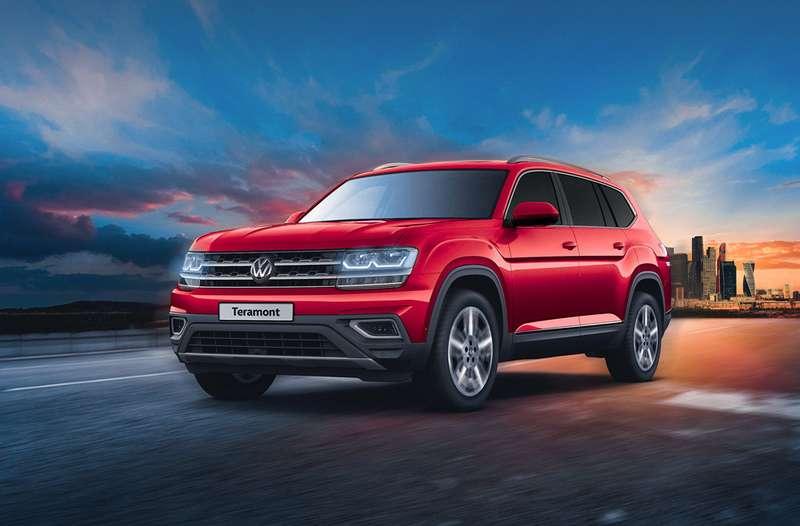 VW представил для РФ кроссовер Teramont сновым двигателем