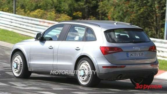 Audi Q6 test-mule side-rear view