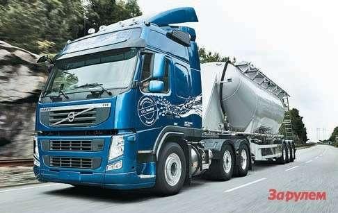 В Европе первой  перевела насжиженный метан свои  тягачи компания  Volvo