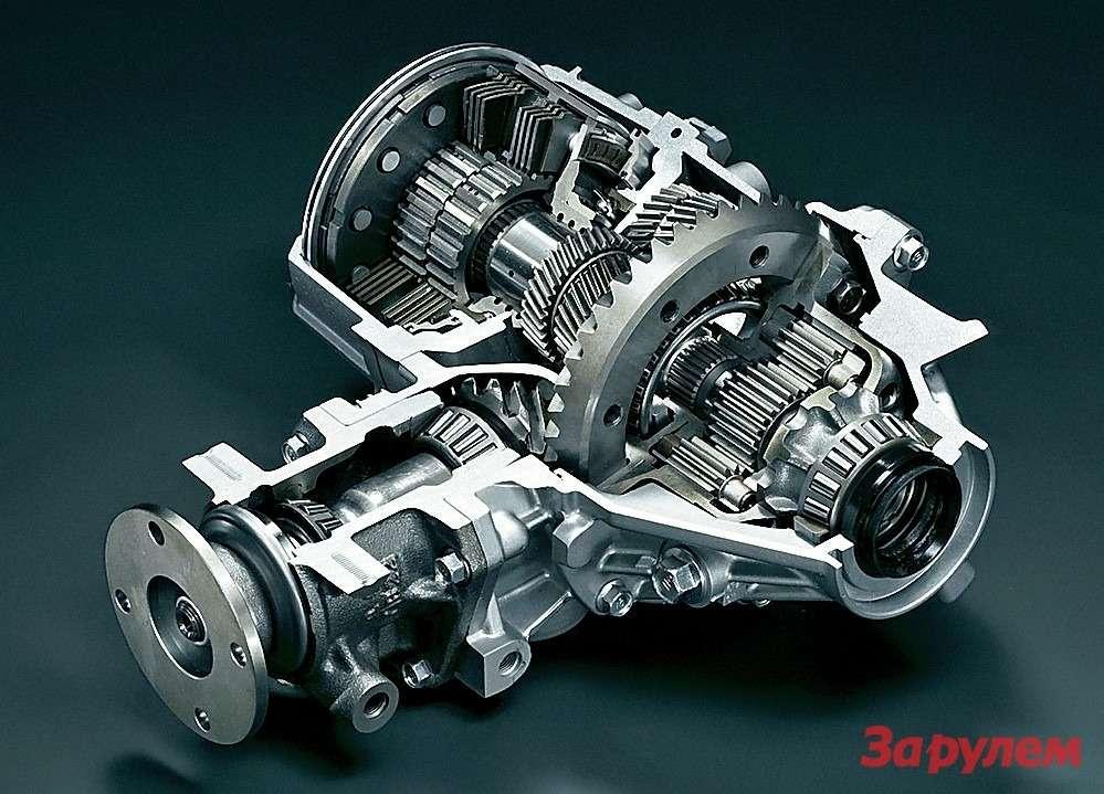 Какимногие системы, активные дифференциалы разрабатывают инастраивают подхарактер автомобиля. Активный дифференциал AYC «Лансера Эволюшн» фирма «Мицубиси» создавала дляезды напределе возможностей. «Хонда» готовила свою трансмиссию сэлектронным дифференциалом SH-AWD (Super Handling All-Wheel Drive system) длякомфортного большого седана «Ледженд». Ееназначение— обеспечить максимально прозрачную ибезопасную управляемость, эффективно используя потенциал 300-сильного двигателя.