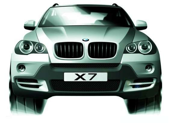 BMW X7 rendering front view