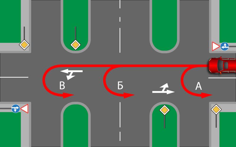 Сложный перекресток— ошибутся даже очень внимательные!