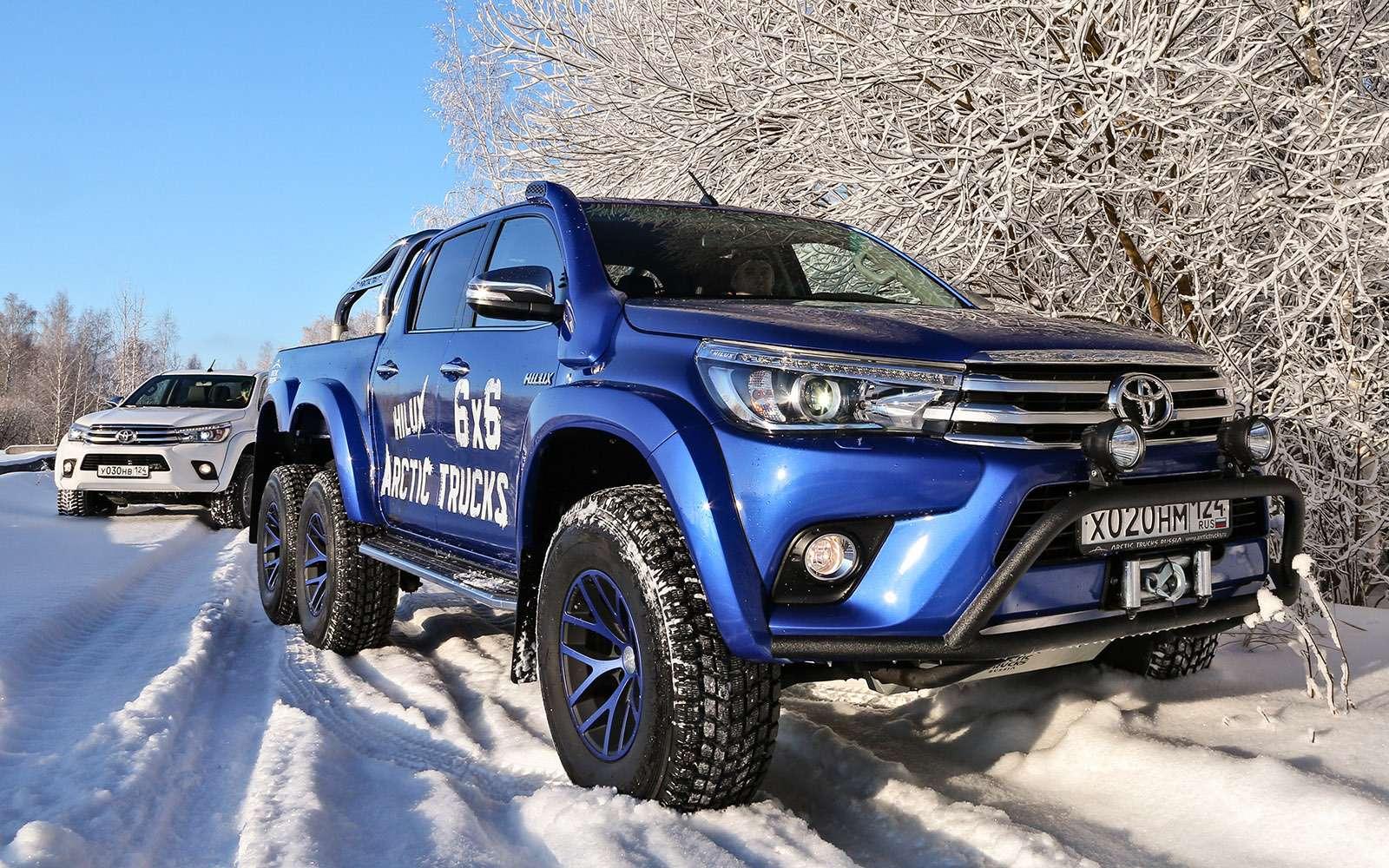 Пикапы Toyota Hilux Arctic Trucks: 4х4или 6х6?— фото 745692