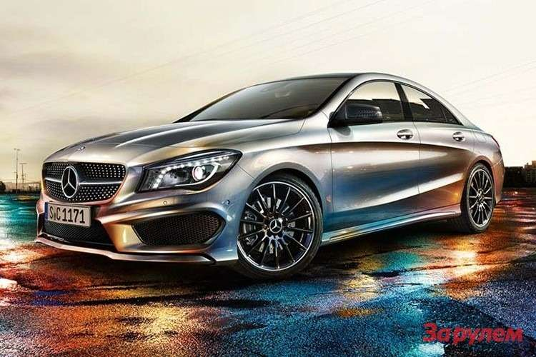 Mercedes-Benz CLA Sport side-front view 2