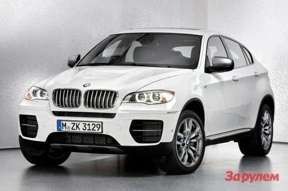 BMWX6M50d side-front view 2