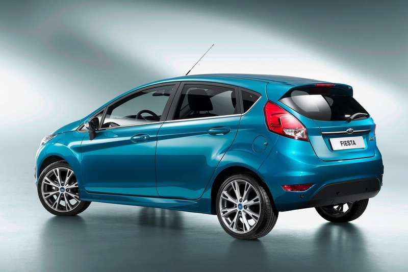 Restyled Ford Fiesta side-rear view_no_copyright