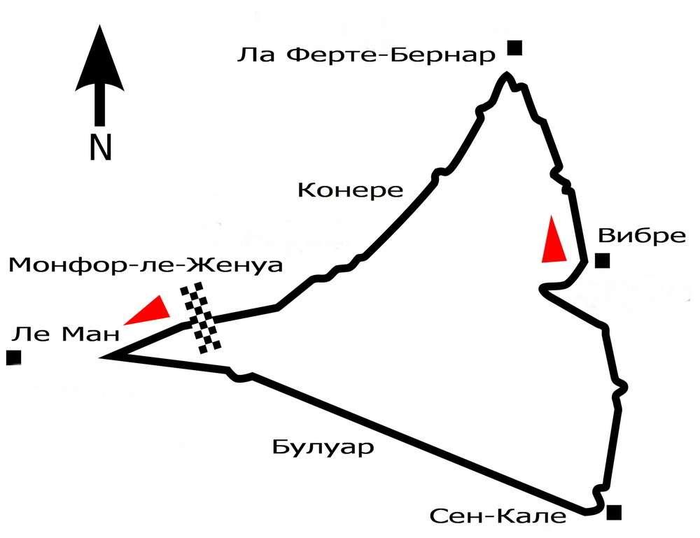 Схема трассы первого вистории Гран При. Иллюстрация: Wikipedia
