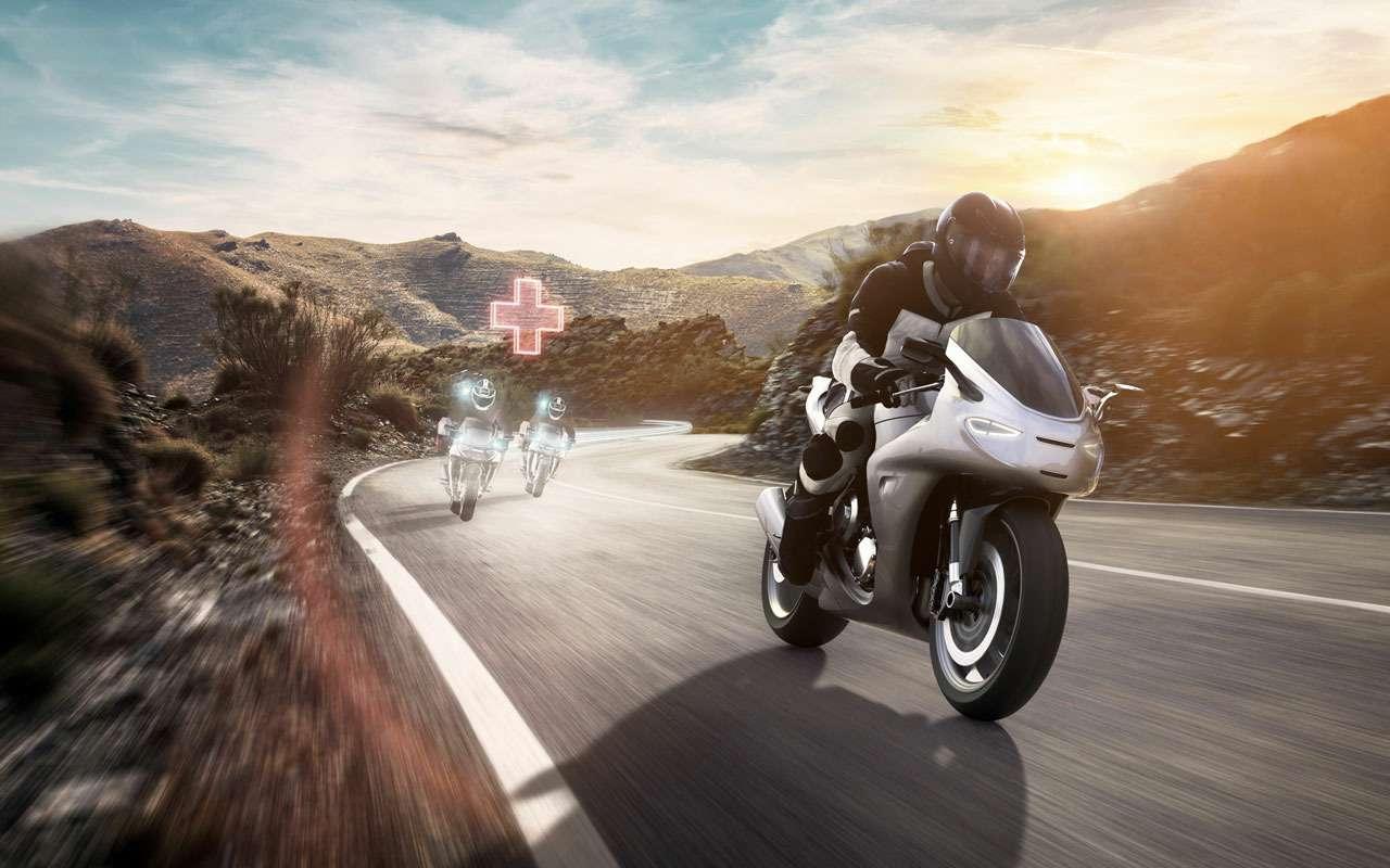 Bosch сделал новую защиту длямотоциклистов— фото 1138262