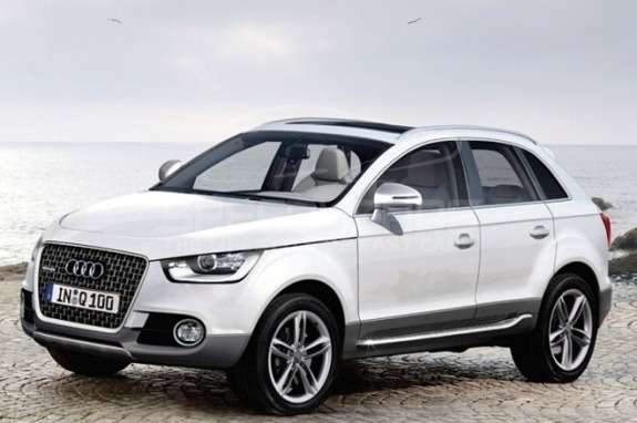 Audi Q1rendering side-front view