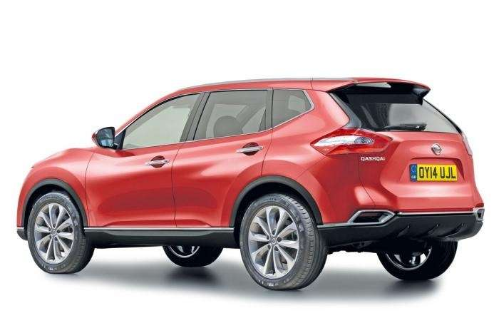 Next Nissan Qashqai side rear view rendering no copyright