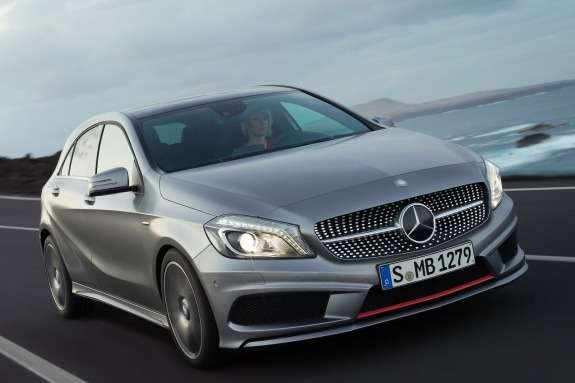Mercedes-Benz A-class side-front view_no_copyright