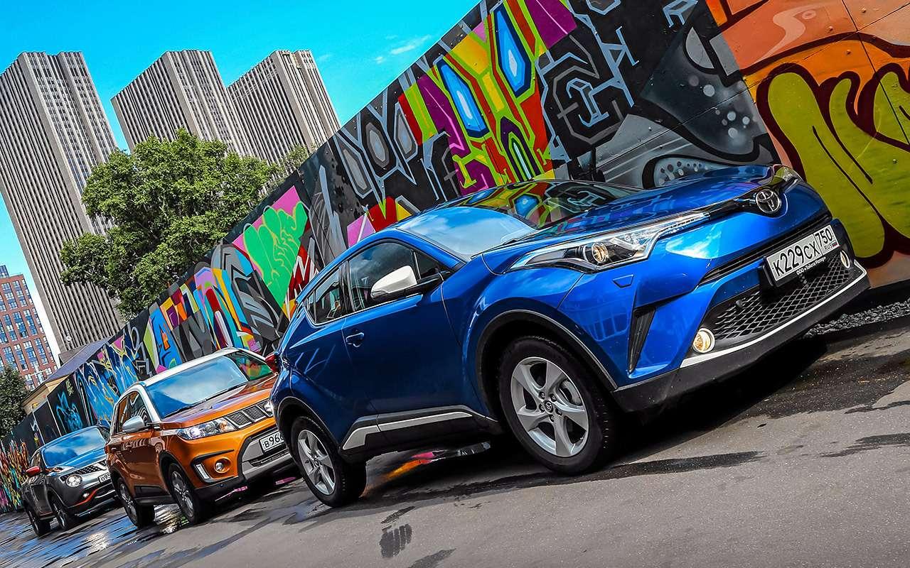 Toyota C-HR против других японских кроссоверов— большой тест-драйв— фото 902428